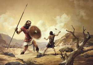 David and Goliath in the valley